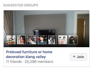 Facebook Group Suggestion